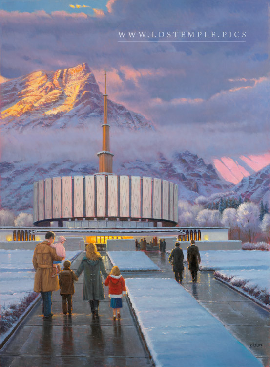 Provo Temple Historical Painting Lds Temple Pictures