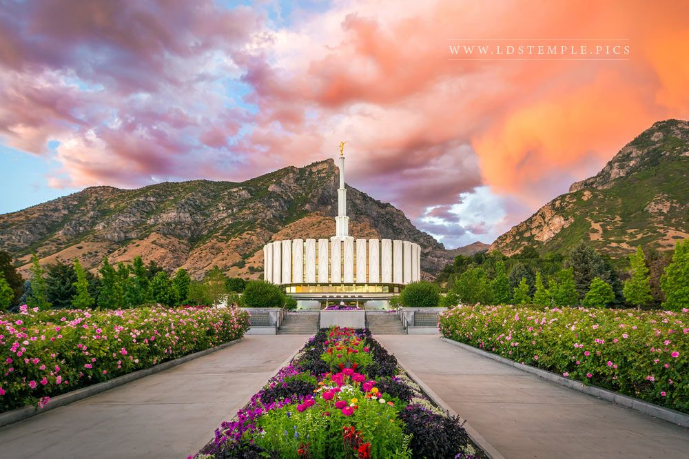 Provo Temple Pathway To Eternity Print