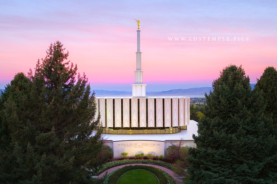 Provo Temple Spring Morning Print