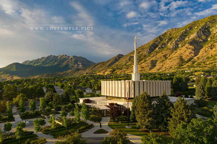 Provo Temple Summer Evening Print