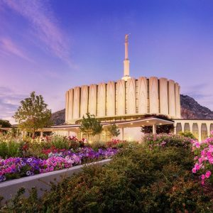 provo-temple-summer-flowers-twilight