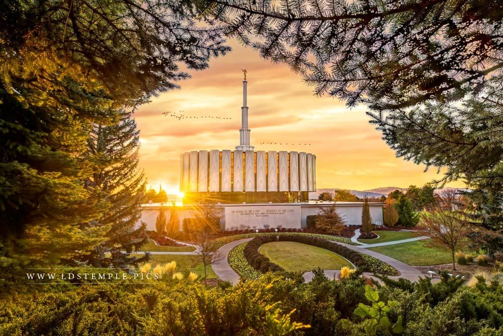 Provo Temple Sunset West Print