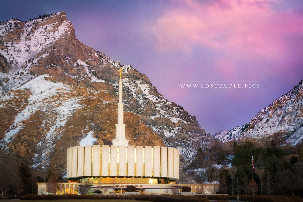 Provo Temple Winter Sunset Lds Temple Pictures