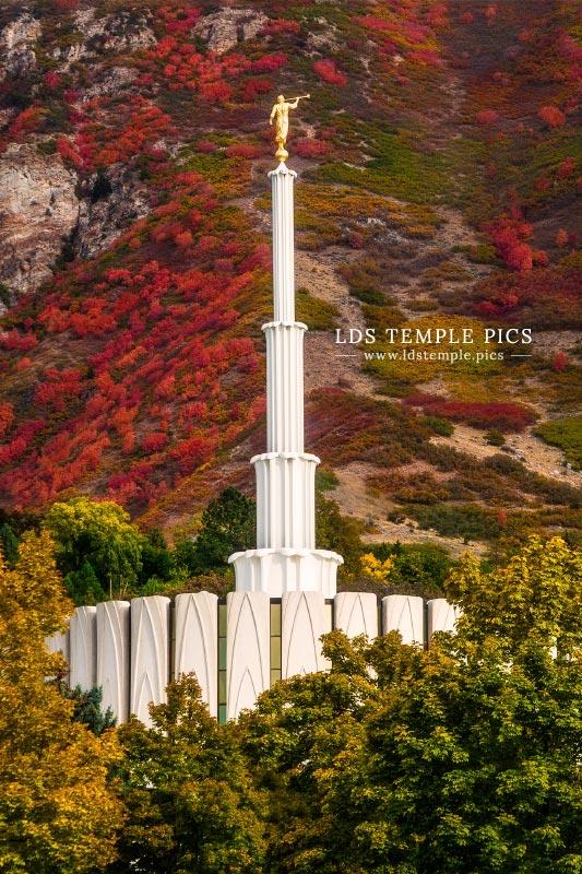 Provo Temple Autumn Hills Print