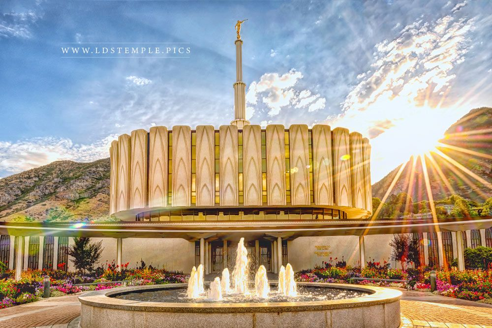 Provo Temple Brightly Beams Print