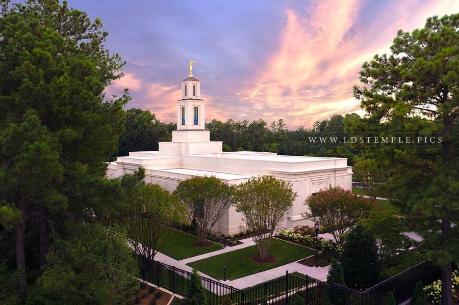 Raleigh Temple – Aerial Sunset