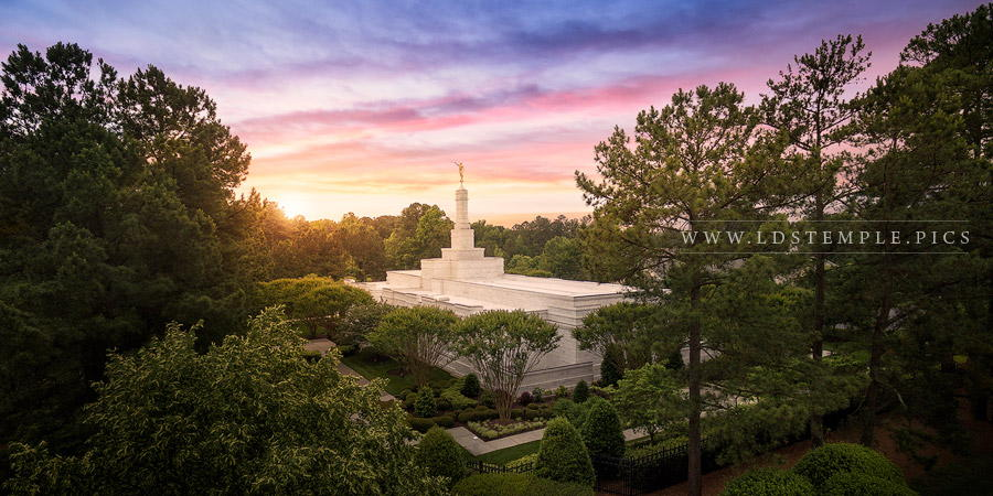 Raleigh Temple Sunset Aerial Lds Temple Pictures