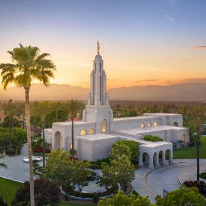 redlands-temple-aerial-summer-sunset