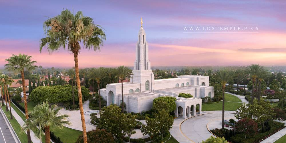 Redlands Temple Greater Heights Sunset Print