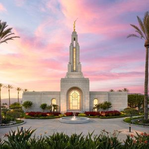 redlands-temple-sunset-glow