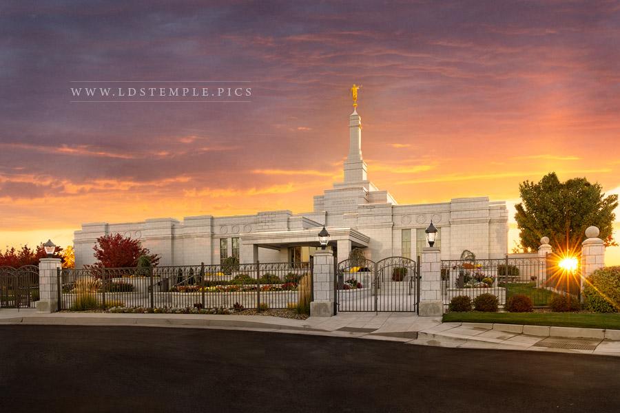 Reno Temple His Light Shineth Print