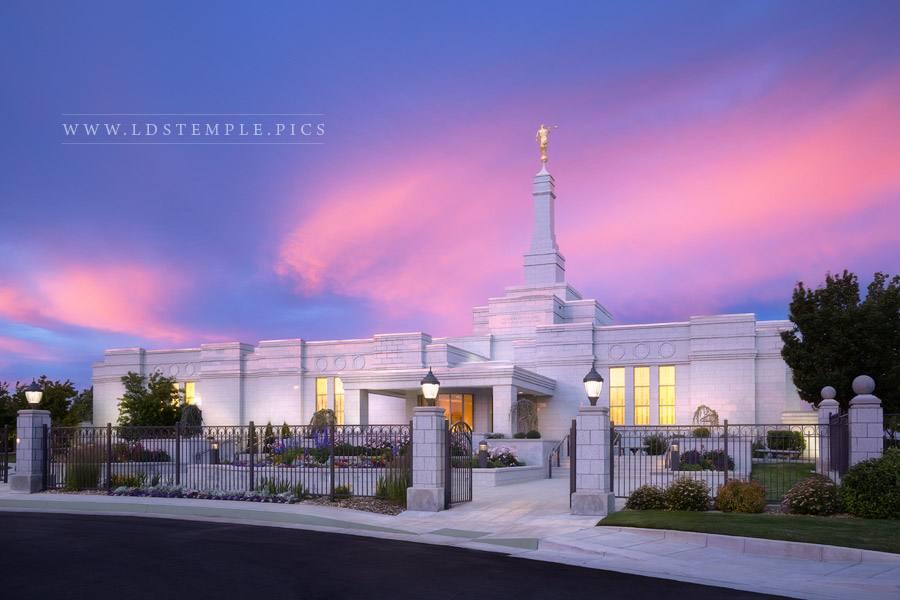 Reno Temple Pastel Skies Print