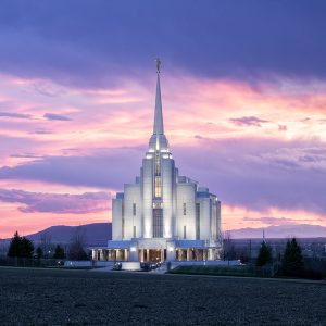 rexburg-temple-april-sunset