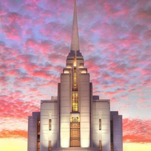 rexburg-temple-brilliant-sunset