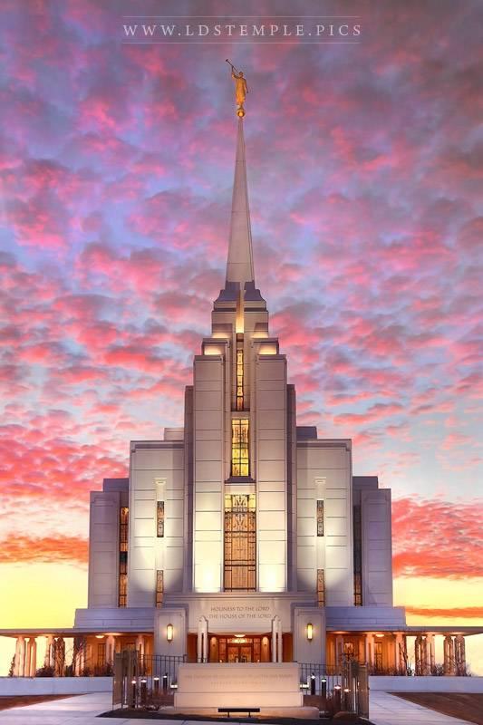 Rexburg Temple – Brilliant Sunset