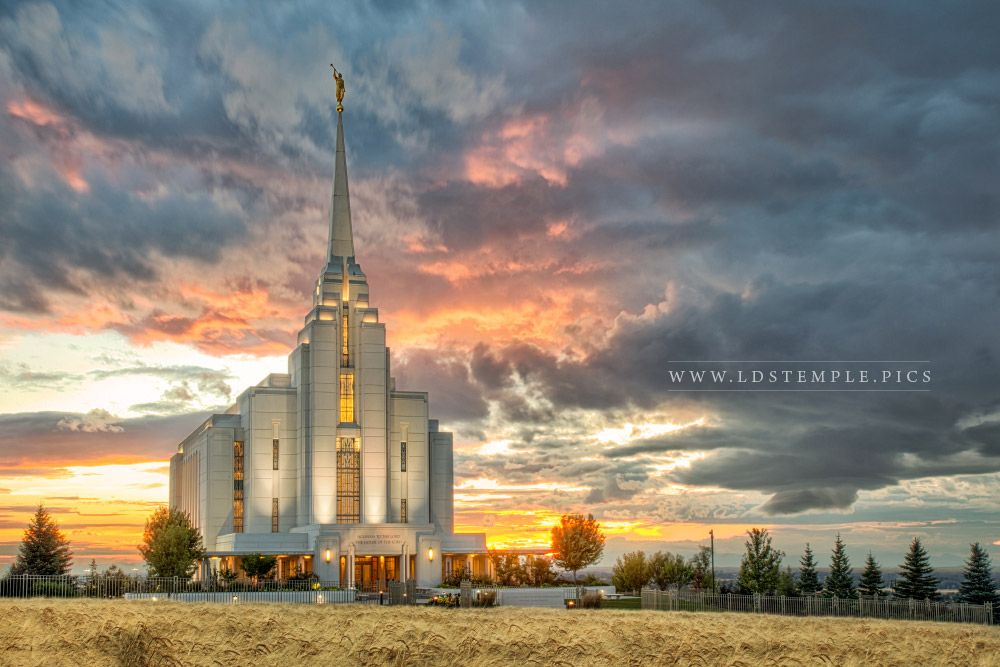 Rexburg Temple – Harvest Sunset