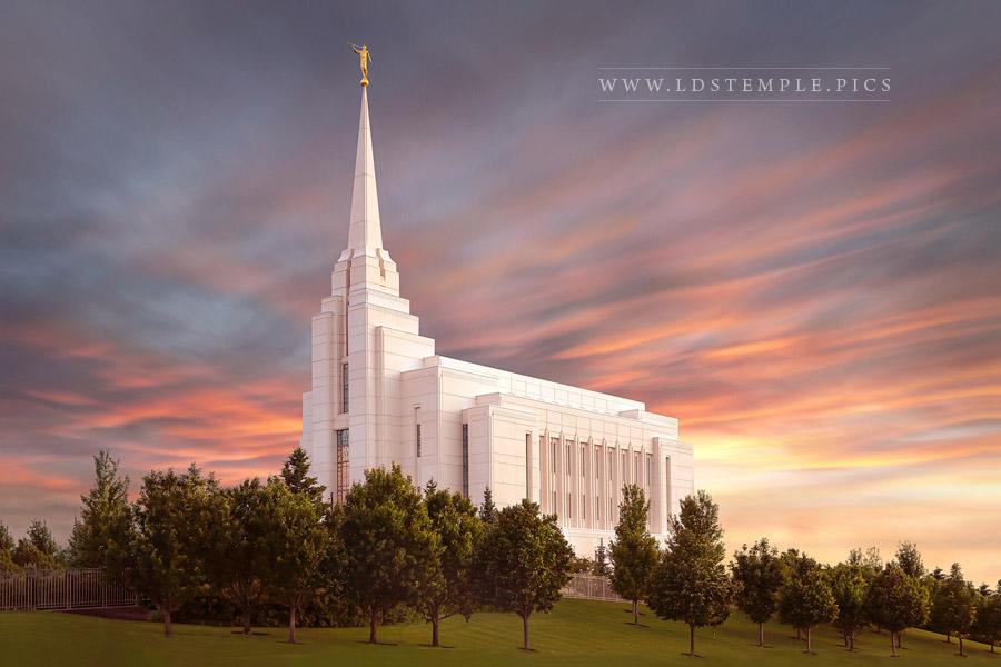 Rexburg Temple Heavenly Light Print