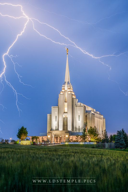 Rexburg Temple Power From On High Print