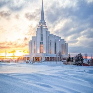 rexburg-temple-snowy-sunset