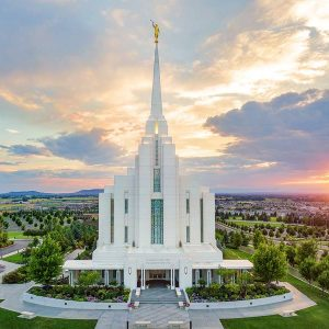 rexburg-temple-summer-sunset-aerial