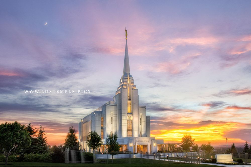 Rexburg Temple Summer Sunset Print