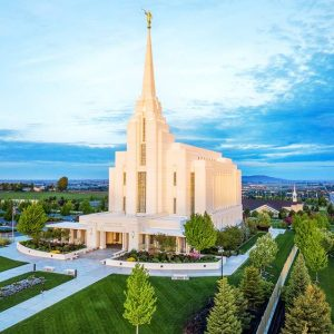 rexburg-temple-sunrise-aerial