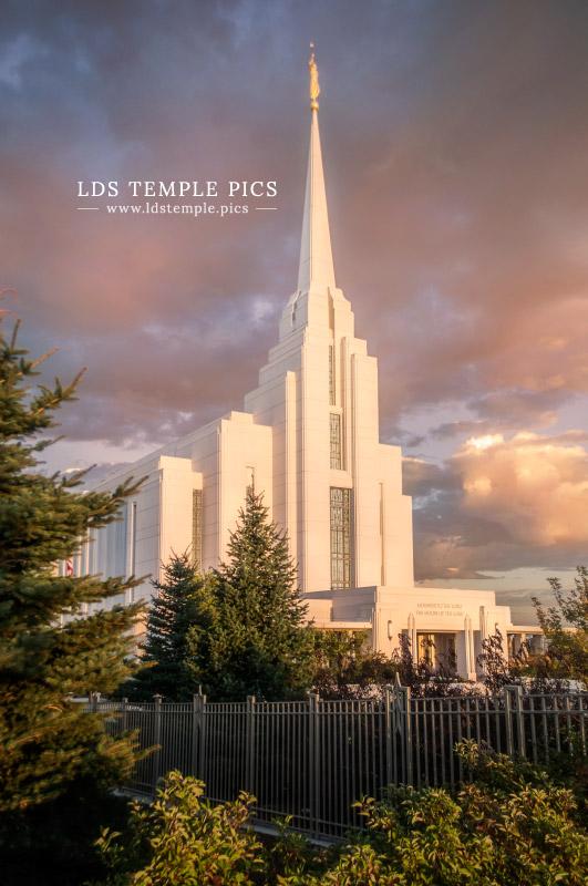 Rexburg Temple Sunrise Lds Temple Pictures