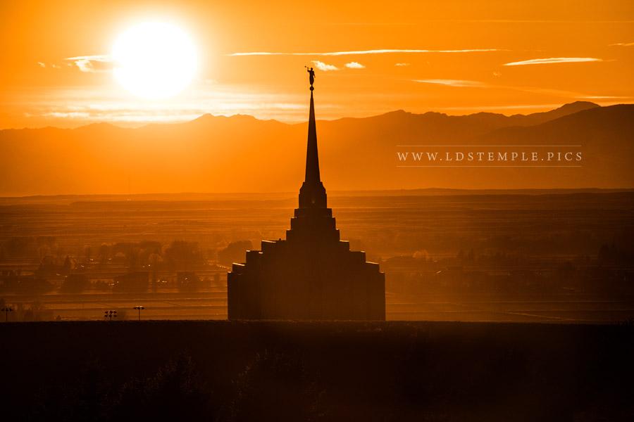 Rexburg Temple – Sunset Silhouette