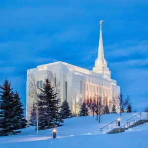 rexburg-temple-winter-evening