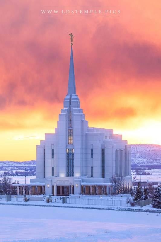 Rexburg Temple Winter Glow Print