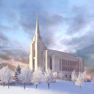 rexburg-temple-winter-morning