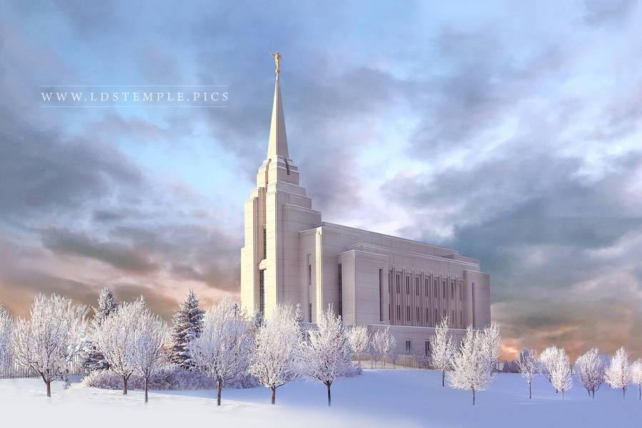 Rexburg Temple – Winter Morning