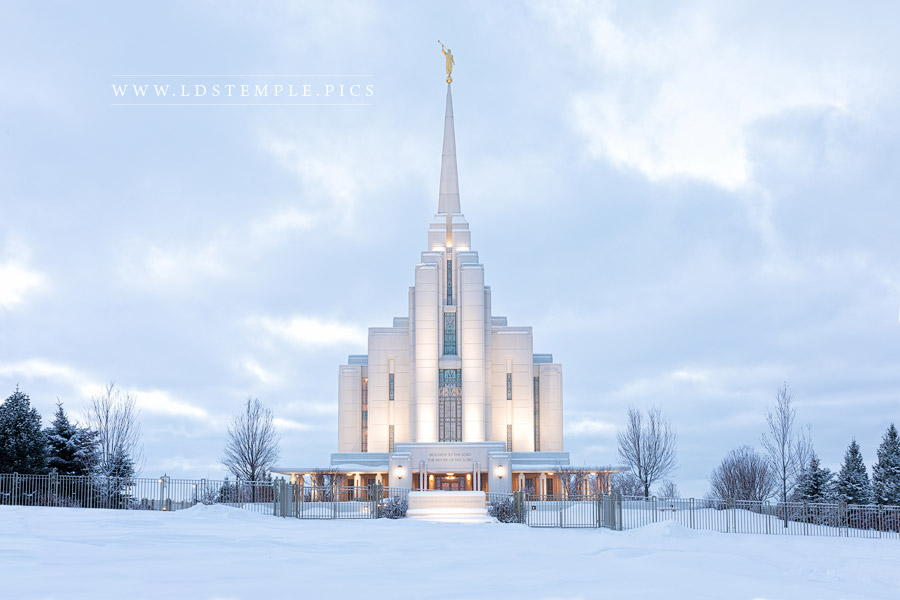 Rexburg Temple Winter Storm Print