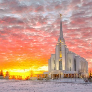 rexburg-temple-winter-sunset