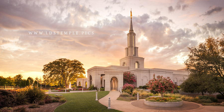 Sacramento Temple – Sunset Panoramic
