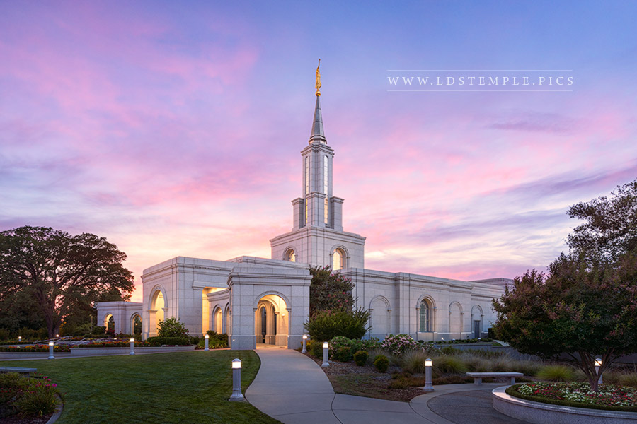 Sacramento Temple – Summer Sunset