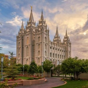salt-lake-lds-temple-summer-sunset