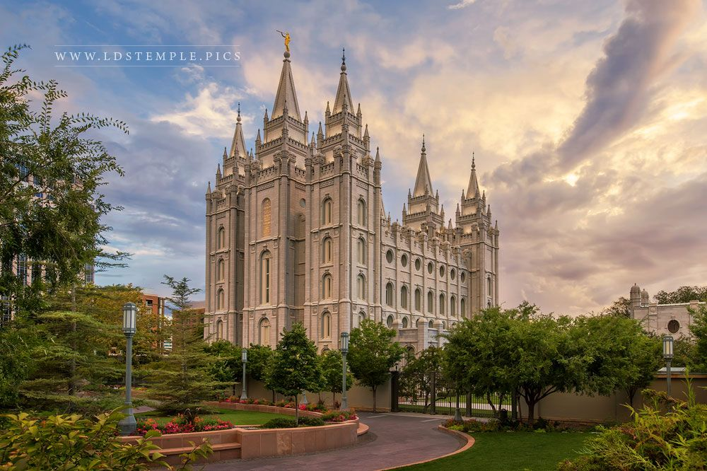 Salt Lake Temple Summer Sunset Print