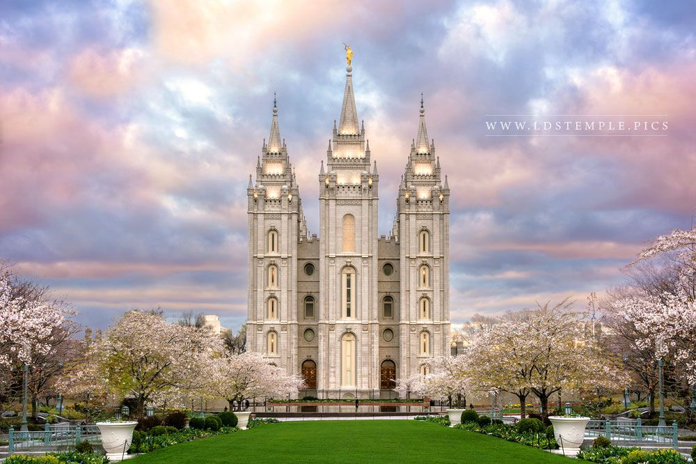 Salt Lake Temple A Glimpse of Heaven Print