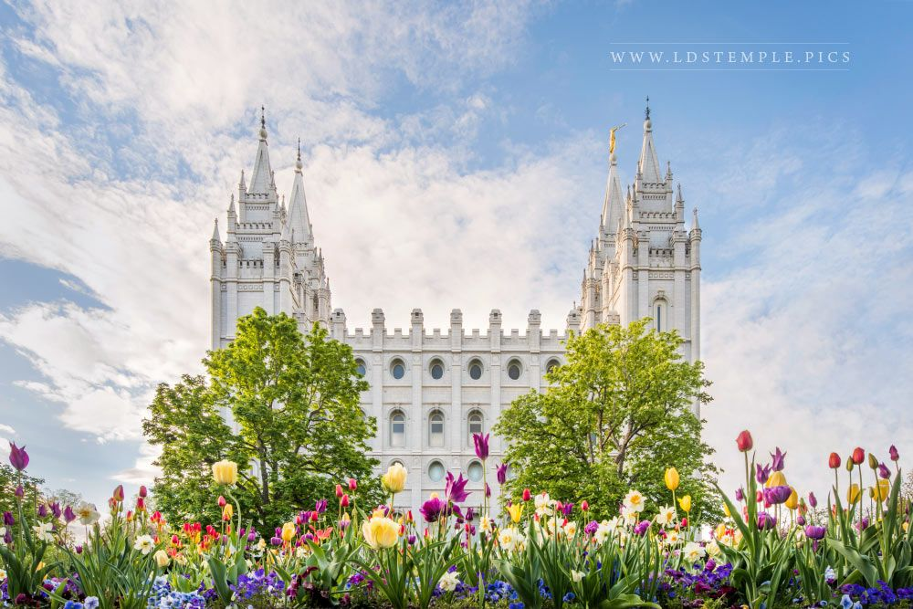 Salt Lake Temple Assurance of Spring Print