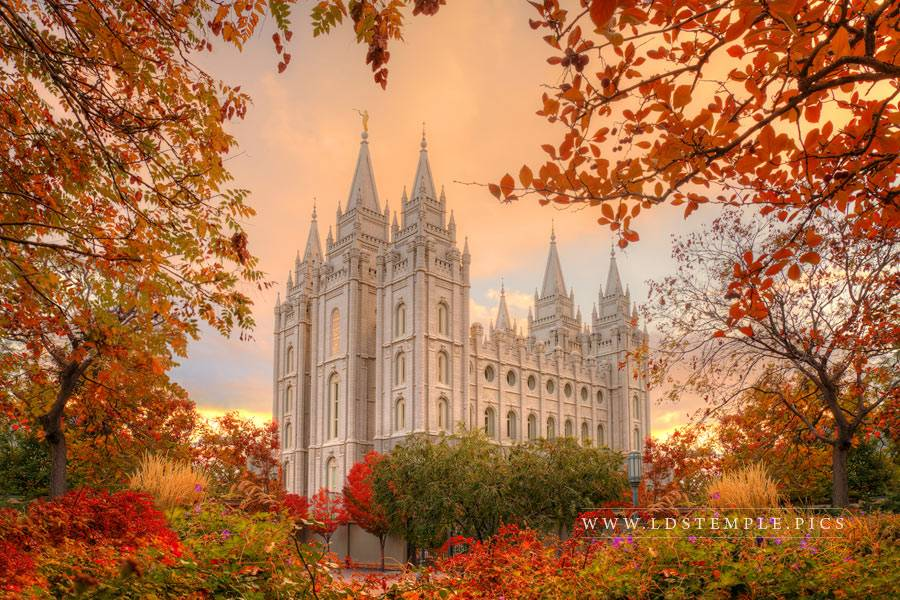 Salt Lake Temple Autumn Print