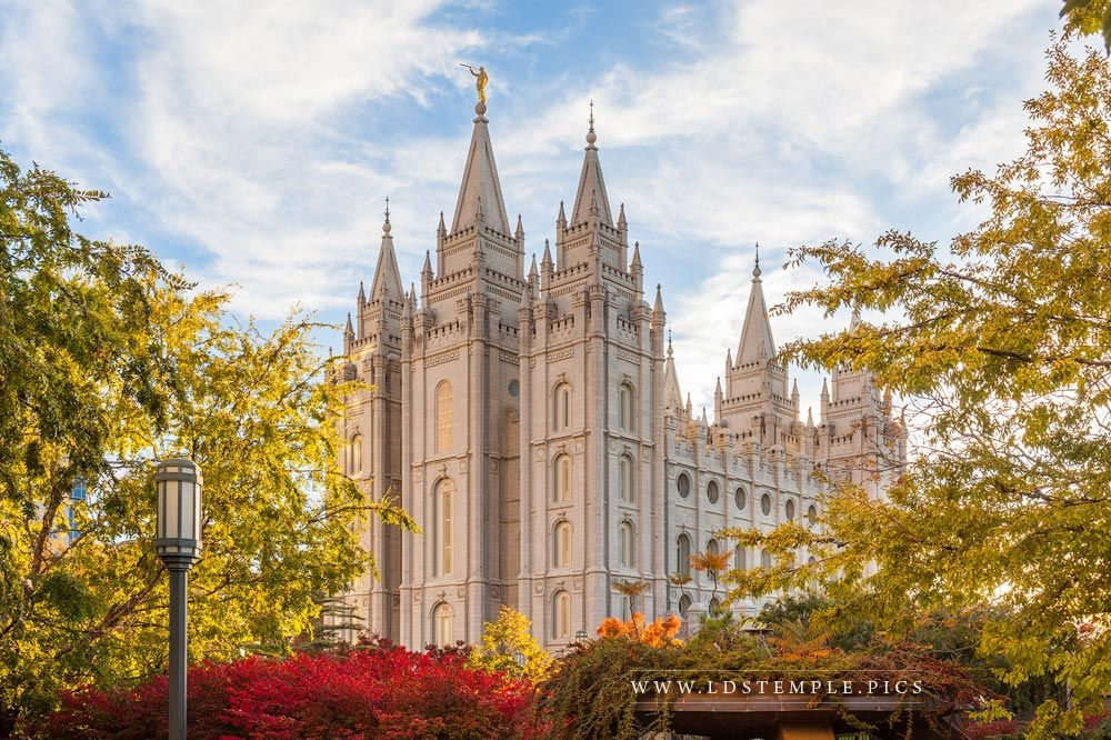 Salt Lake Temple Autumn Light Print