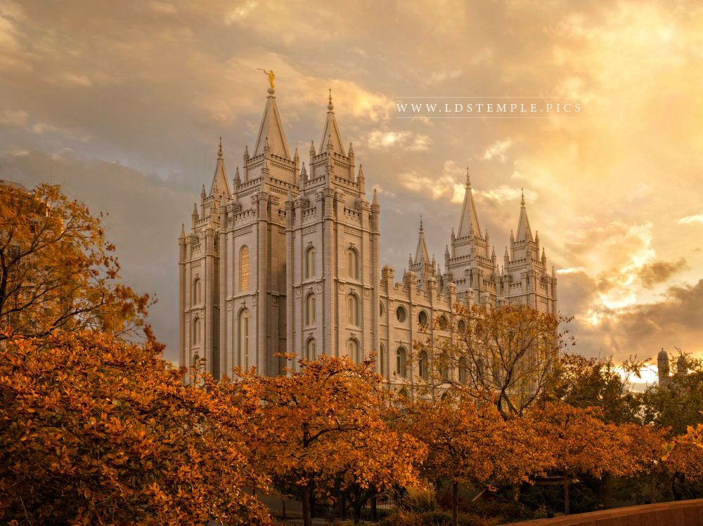 Salt Lake Temple – Autumn Splendor