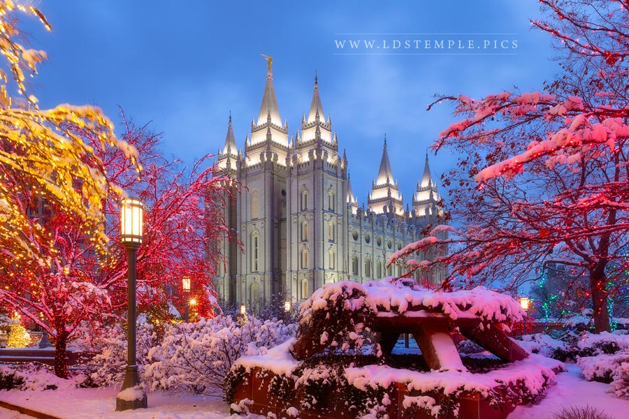 Salt Lake Temple Christmas Print