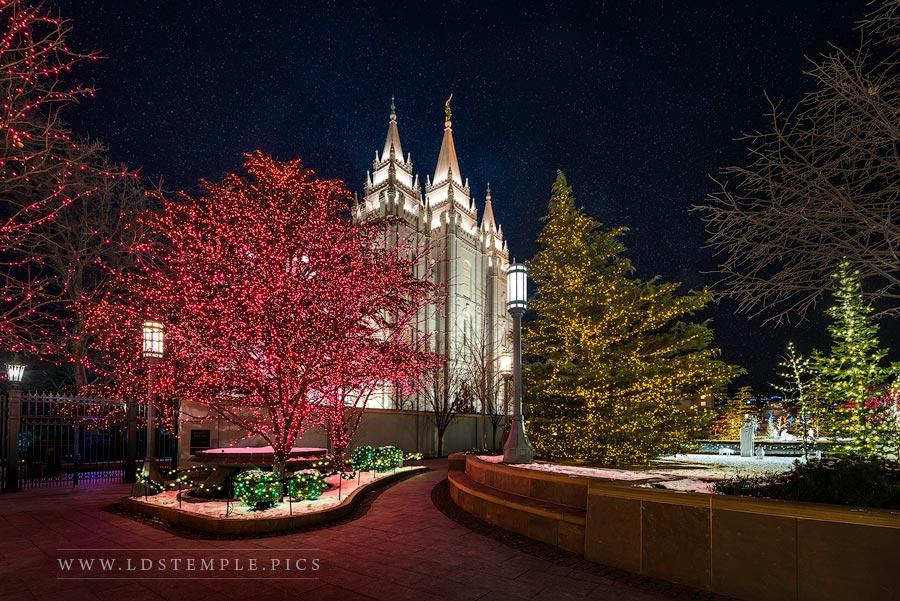 Salt Lake Temple – Christmas Pathway