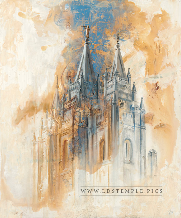 Salt Lake Temple Painting Print