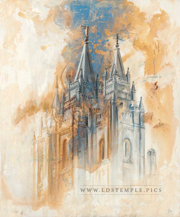 Salt Lake Temple Painting Print