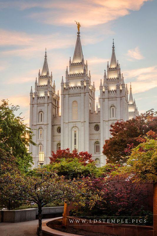 Salt Lake Temple Colors of Autumn Print