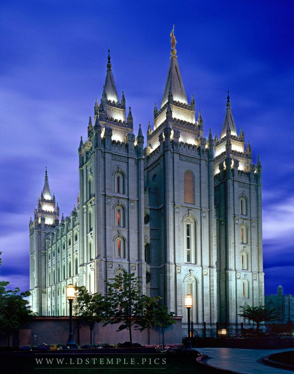 Salt Lake Temple Dawn Print