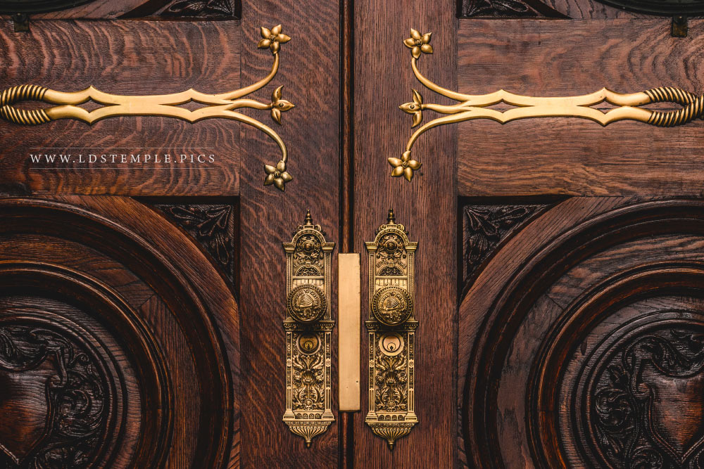 Salt Lake Temple Doors Print